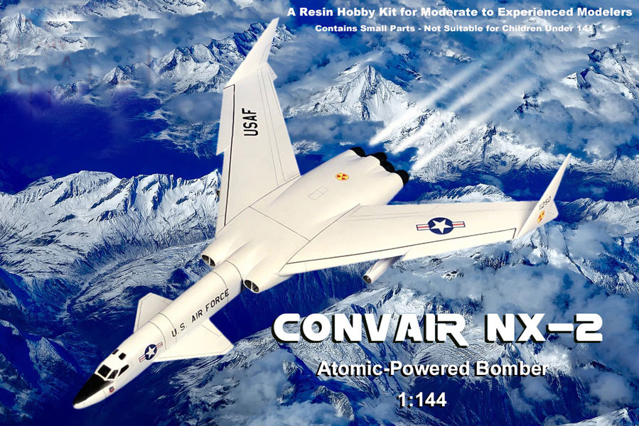 Convair NX-2 1961 Atomic-Powered Bomber 1/144 Scale Model Kit