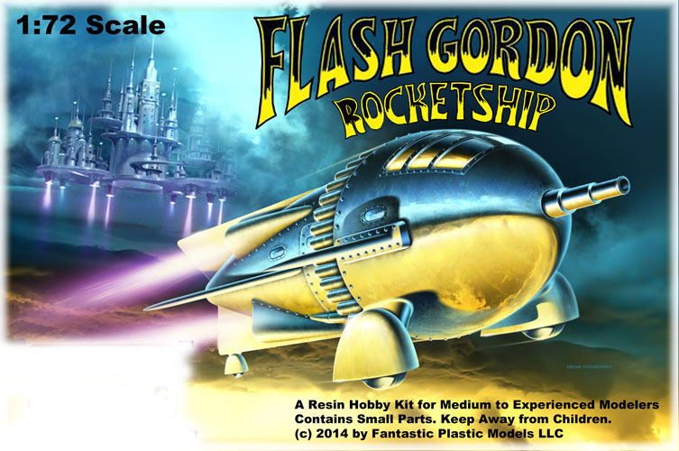 Flash Gordon 1936 Rocket Ship 1/72 Scale Model Kit