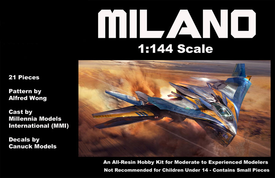 Guardians of the Galaxy Milano Spaceship 1/144 Scale Model Kit