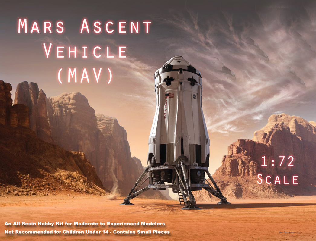 Martian, The 2015 Mars Ascent Vehicle (MAV) 1/144 Scale Model Kit