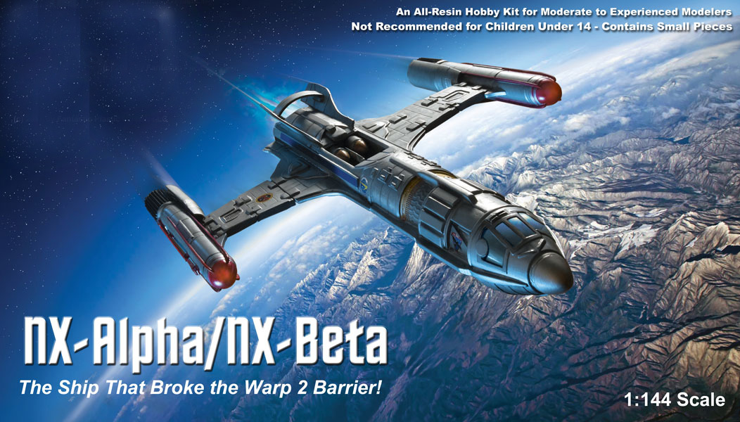 Star Trek Enterprise NX-Alpha / NX-Beta Warp Ship 1/144 Scale Model Kit
