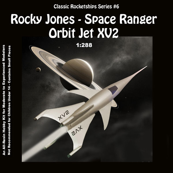 Rocky Jones, Space Ranger 1953 Orbit Jet XV-2 1/288 Scale Model Kit