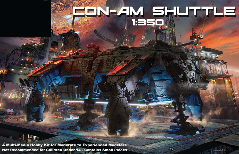 Outland Con-Am Shuttle 1/350 Scale Model Kit