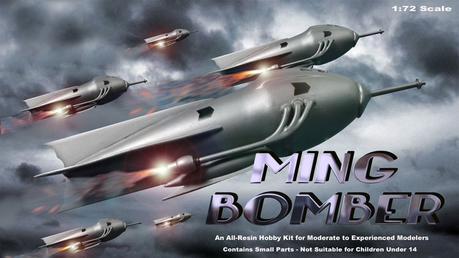 Flash Gordon 1936 Ming Bomber 1/72 Scale Resin Model Kit