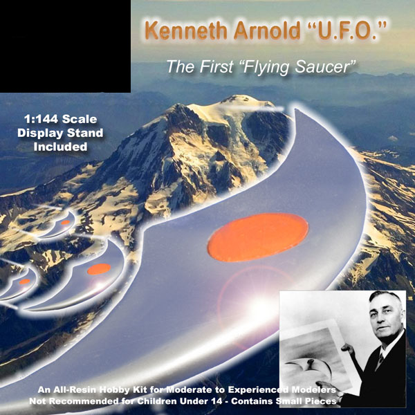 First Flying Saucer Kenneth Arnold UFO 1947 1/144 Scale Model Kit