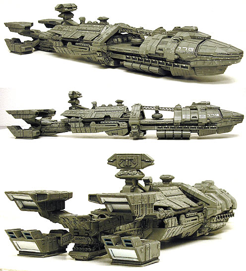 "Roger Young Starship Carrier 19"" Resin Model Kit Rodger Young"