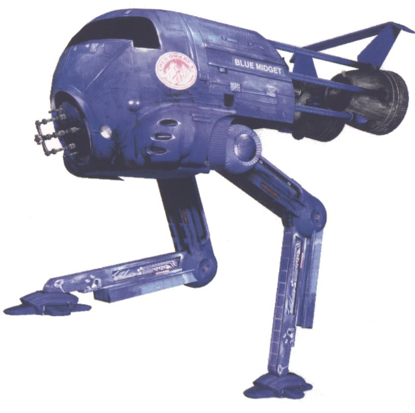 Red Dwarf Blue Midget with Legs 1/72 Scale Model Kit