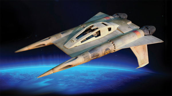Buck Rogers Starfighter 1/35 Scale Model Kit with Figure