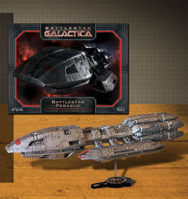 Battlestar Galactica 2003 Pegasus Model Kit by Moebius