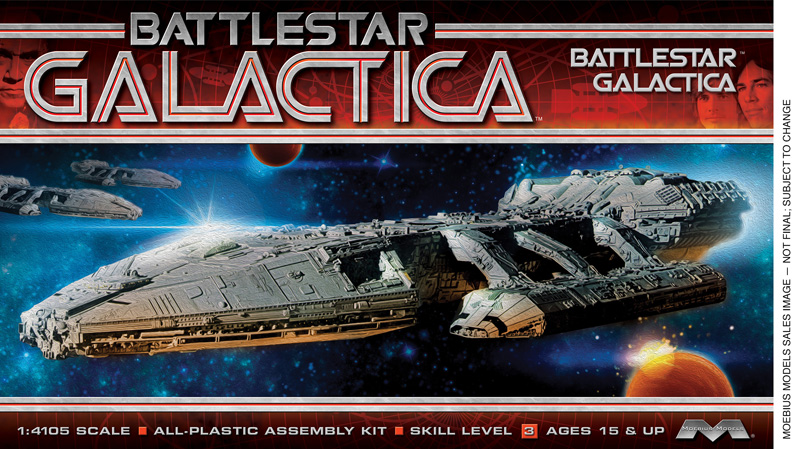 Battlestar Galactica 1978 Galactica Model Kit by Moebius