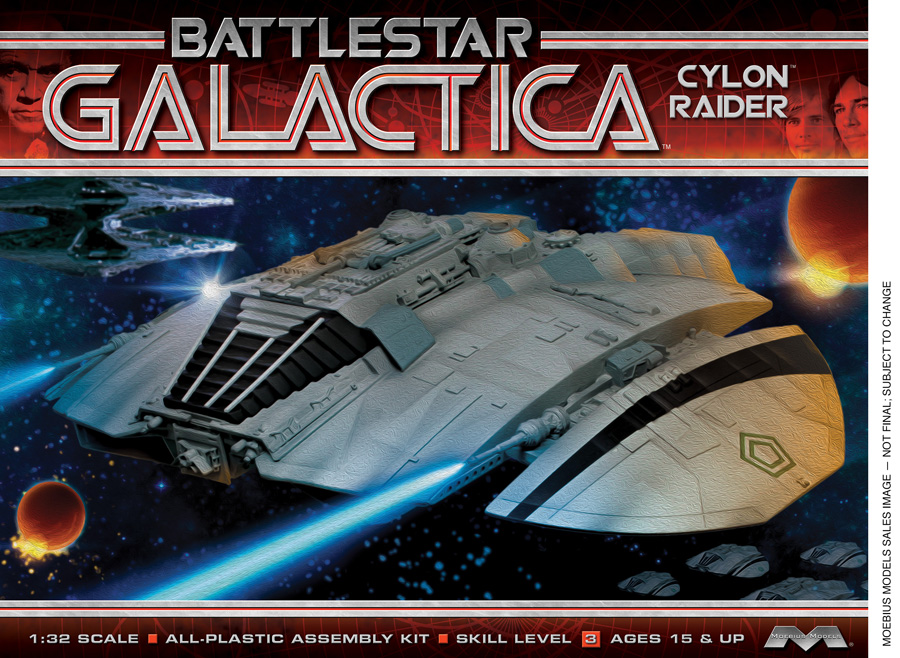 Battlestar Galactica 1978 Cylon Raider 1/32 Scale Model Kit by Moebius