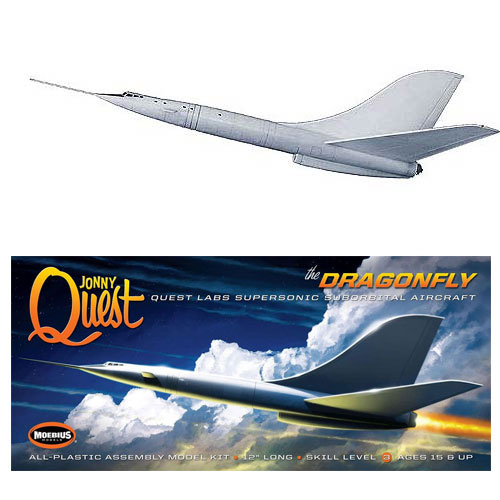 Jonny Quest Dr. Quest Dragonfly SST Jet Airplane Model Kit Johnny Quest