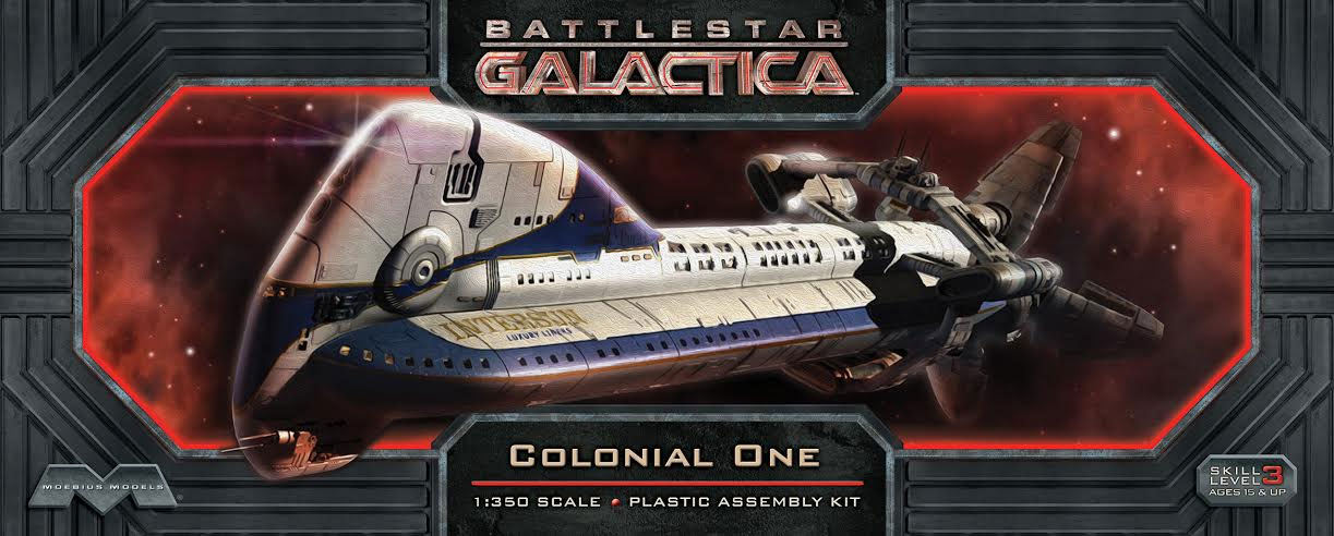 Battlestar Galactica 2003 Colonial One Model Kit by Moebius