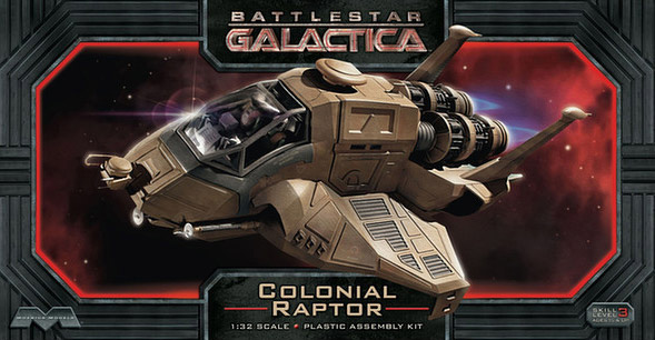 Battlestar Galactica 2003 Raptor 1/32 Scale Model Kit by Moebius