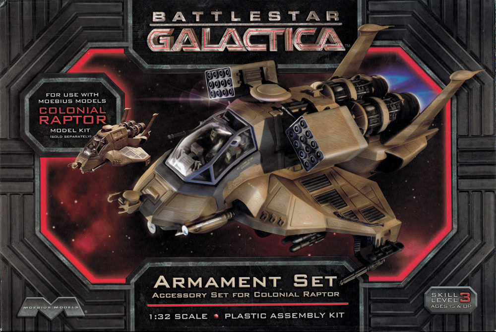 Battlestar Galactica 2003 1/32 Scale Raptor Armament Set Model Kit by Moebius