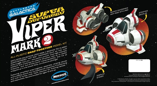 Battlestsr Galactica Super Deformed Chibi Viper MK II Model Kit by Moebius
