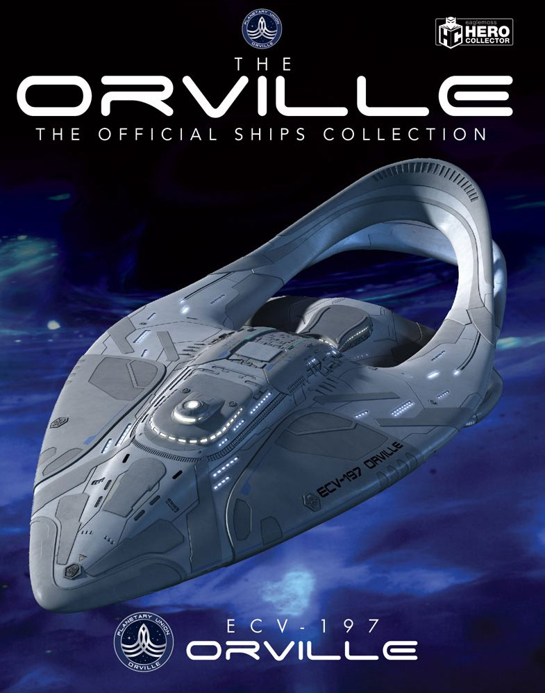 Orville Starship Collection U.S.S. Orville ECV-197 Ship with Collector Magazine
