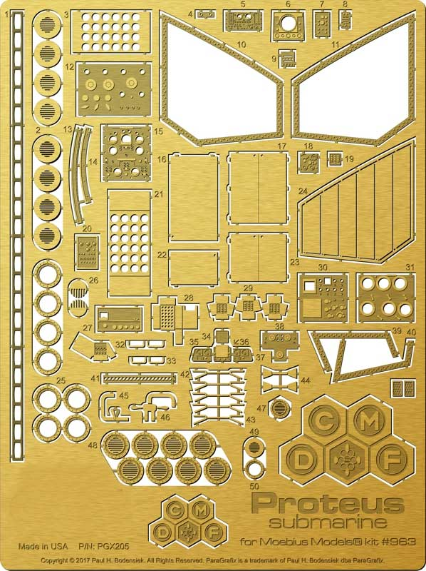 Fantastic Voyage 1/32 Scale Proteus Photoetch Detail Set