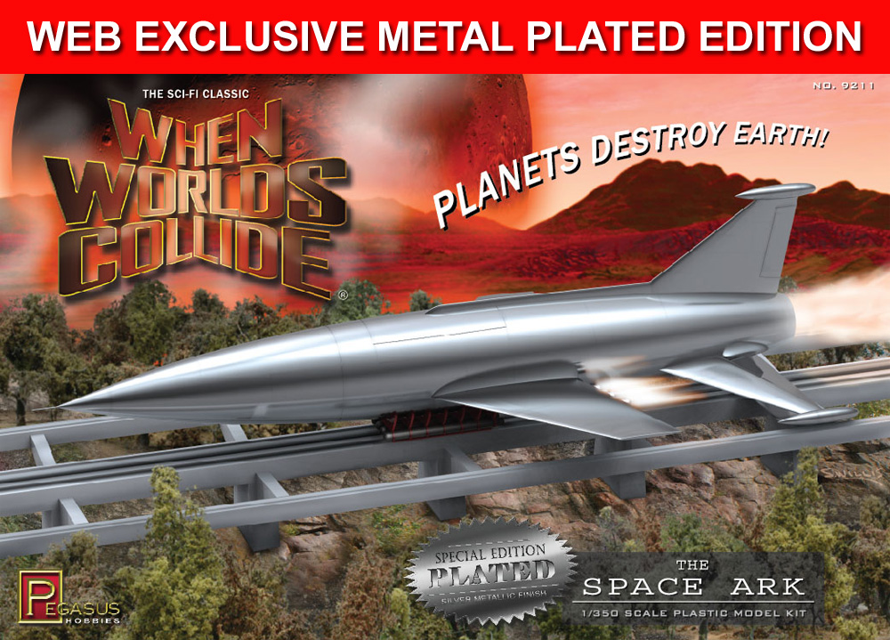 When Worlds Collide Space Ark 1/350 Scale Model Kit WEB EXCLUSIVE SPECIAL METAL PLATED EDITION