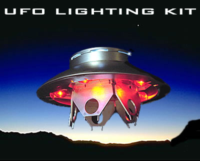 Invaders TV Series U.F.O. Aurora Re-Issue Model Lighting Kit