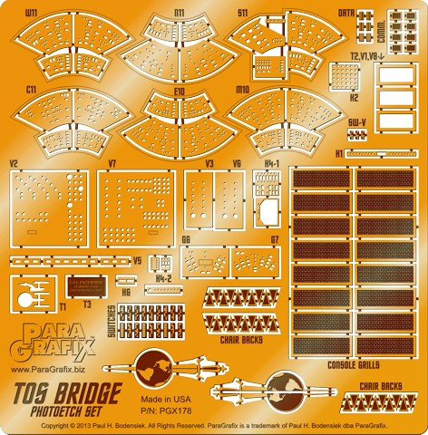 Star Trek TOS Bridge Photoetch Set