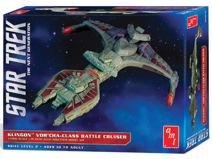 Star Trek TNG Klingon Vor'cha Battle Cruiser 1/1400 Scale Model Kit by AMT