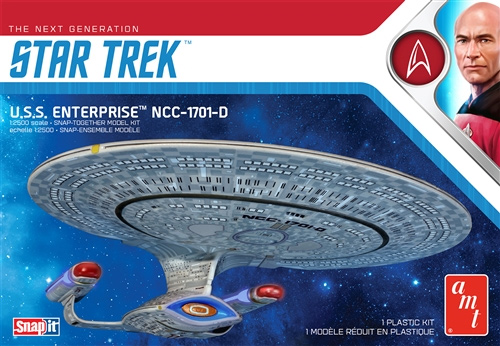 Star Trek TNG Enterprise NCC-1701-D 1/2500 Snap Together Model Kit
