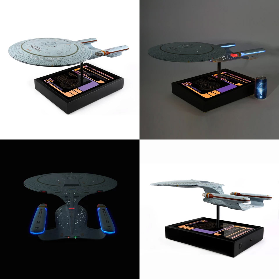 "Star Trek TNG Enterprise 1701-D 24"" Replica with Lights"
