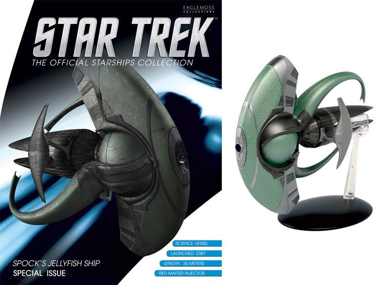Star Trek Starships Collection Spocks Jellyfish Ship Diecast Vehicle with Magazine