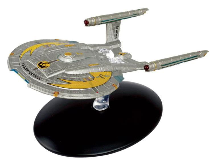 Star Trek Starships Collection Mirror Universe NX-01 Ship Replica with Magazine
