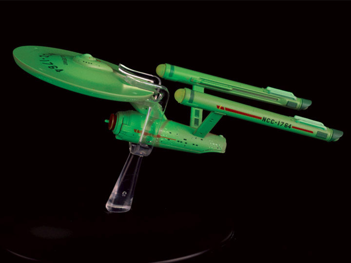 Star Trek Starships U.S.S. Defiant Glow In The Dark Interphase Vehicle with Collector Magazine #6