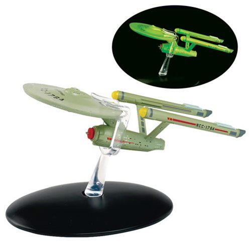 Star Trek Starships U.S.S. Defiant Glow In The Dark Interphase Vehicle with Collector Magazine #6 - Click Image to Close