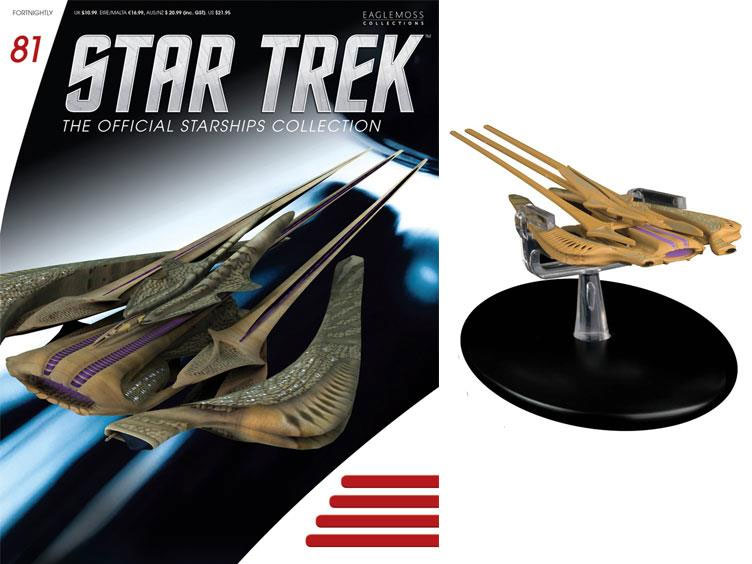 Star Trek Starships Collection Xindi Reptilian Ship Replica with Magazine