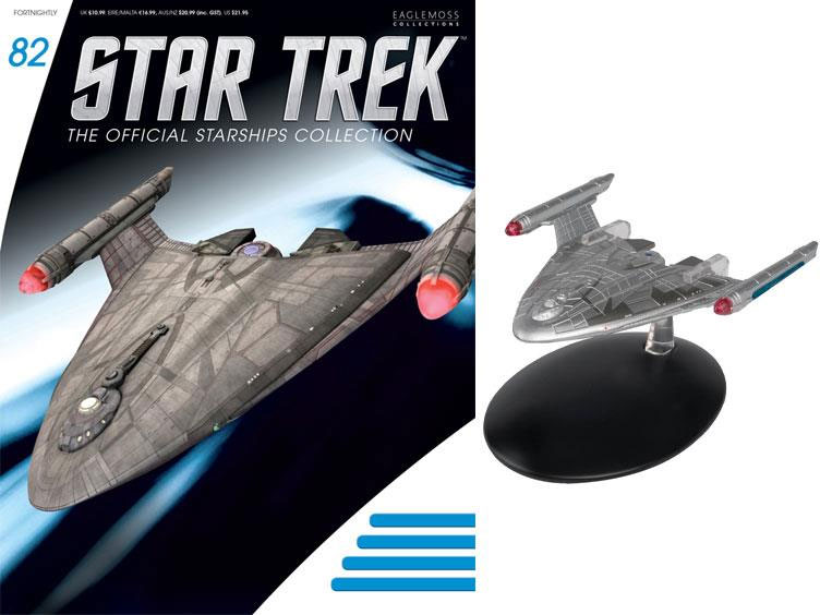 Star Trek Starships Collection Warp Delta Ship Replica with Magazine