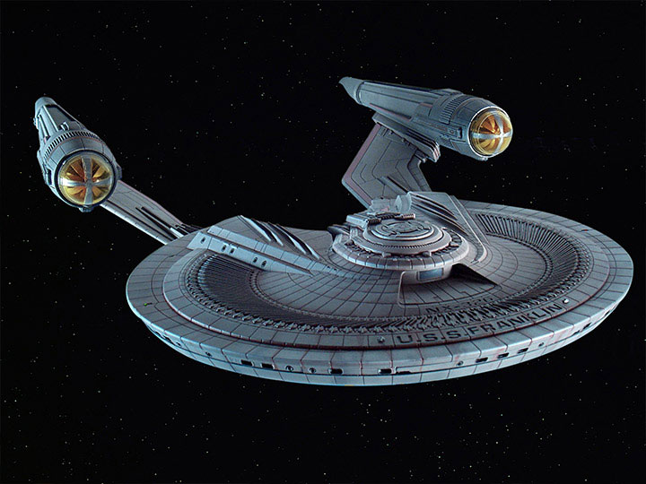 Star Trek Beyond U.S.S. Franklin 1/350 Scale Plastic Model Kit - Click Image to Close