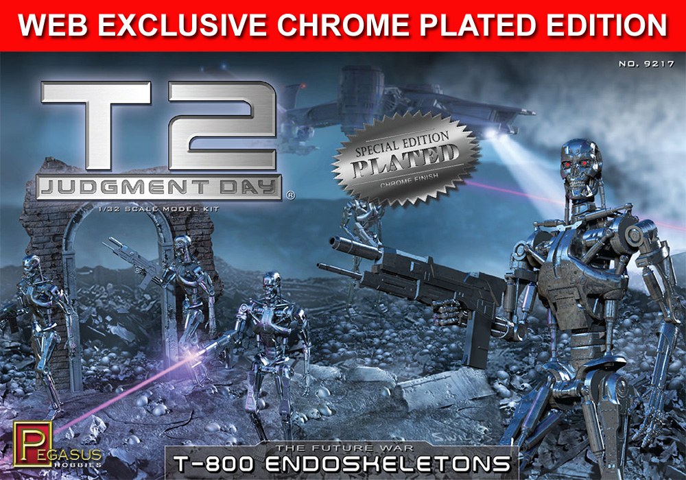 Terminator 2 T-800 Endoskeletons Diorama 1/32 LIMITED CHROME EDITION