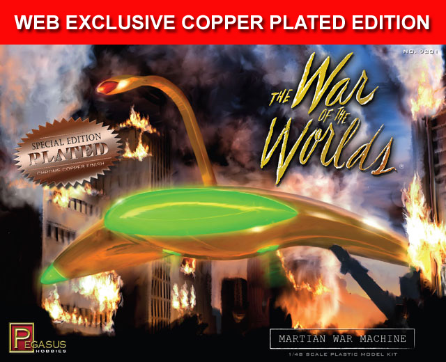 War Of The Worlds Martian War Machine 1/48 Scale Model Kit SPECIAL COPPER PLATED EDITION