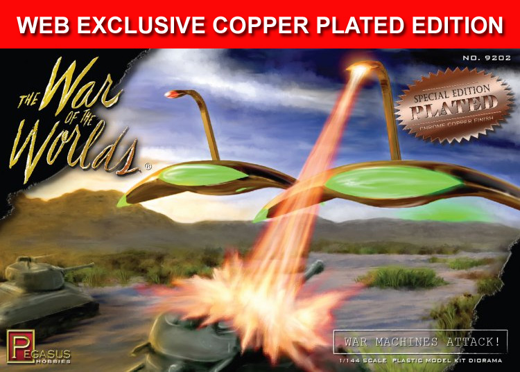 War Of The Worlds War Machines Attack Diorama 1/144 Scale Model Kit SPECIAL COPPER PLATED EDITION