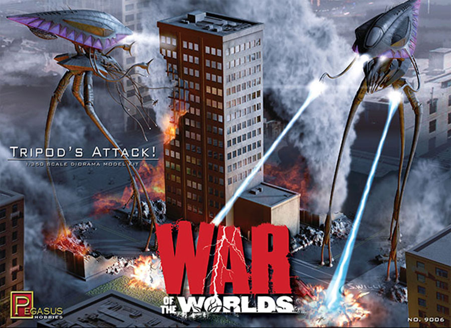 War Of the Worlds 2005 Tripods Attack 1/350 Scale Diorama Model Kit