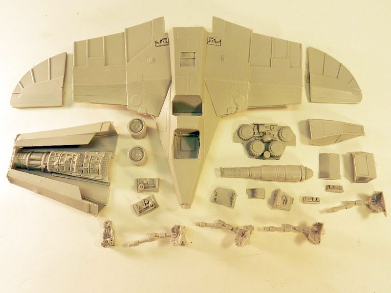 Buck Rogers Warhawk Spacecraft Model Kit