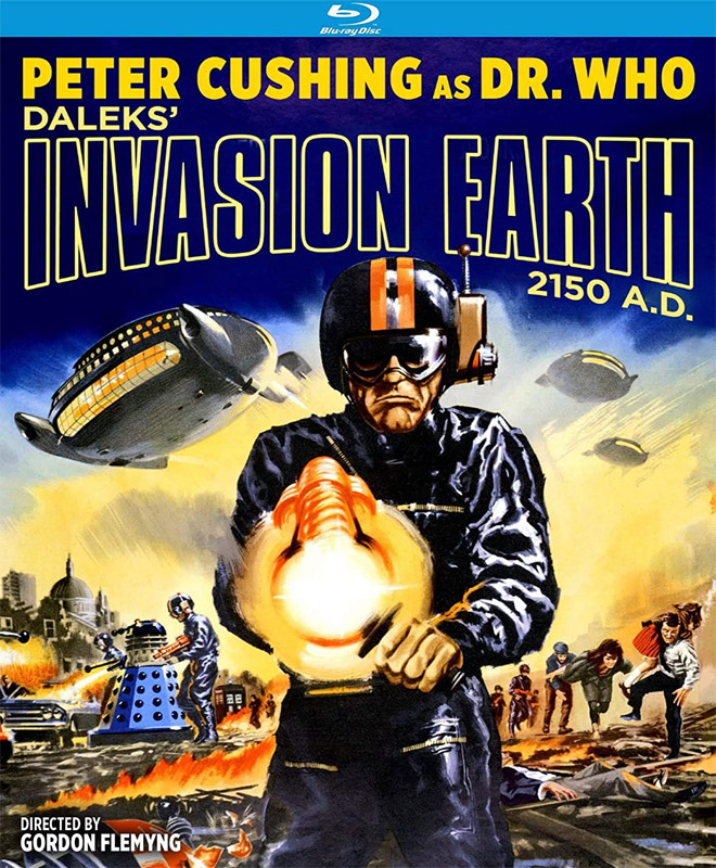 Dr. Who Daleks' Invasion Earth 2150 A.D. 1966 Blu-Ray Peter Cushing