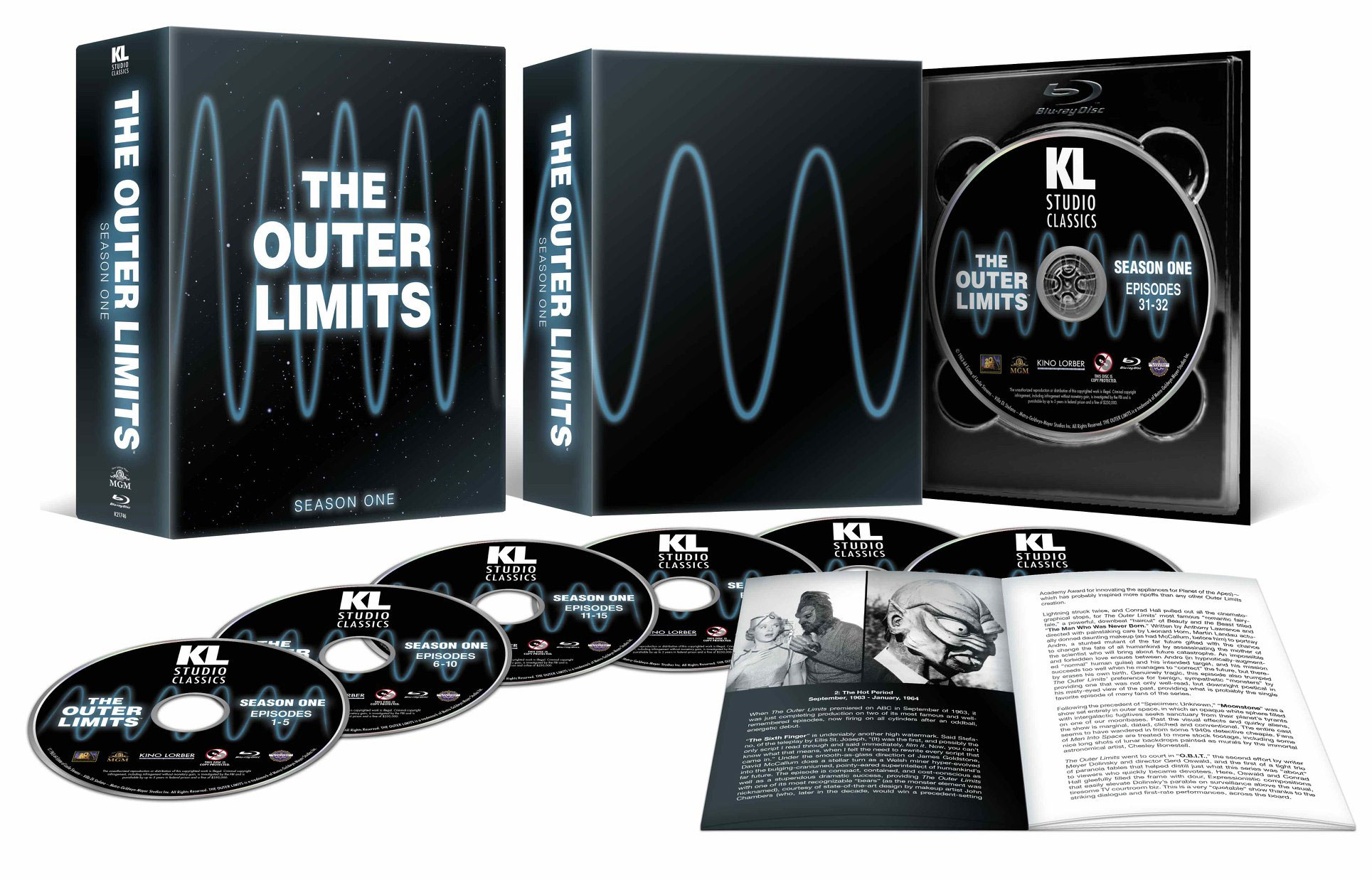 Outer Limits Season 1 Blu-Ray 32 Episodes Plus Commentaries