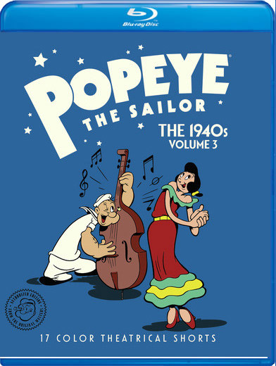 Popeye The Sailor The 1940s Volume 3 Blu-Ray