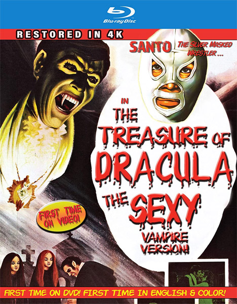 Santo In The Treasure Of Dracula: The Sexy Vampire Version 4k Restoration (In Color) Blu-ray