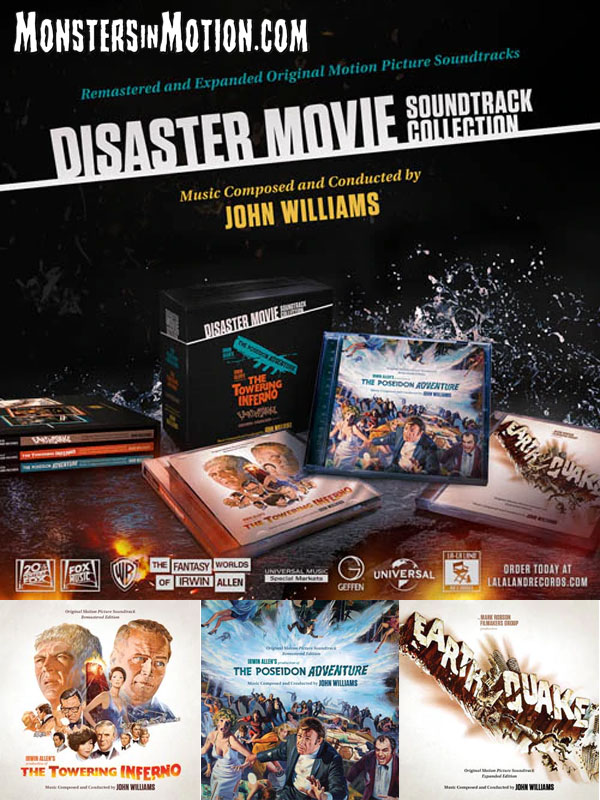 Disaster Movies of Irwin Allen Soundtrack CD Collection 4 Disc Set John Williams