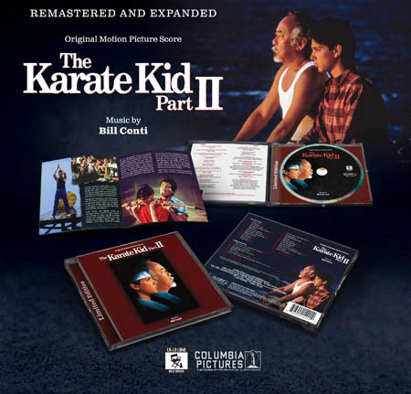 Karate Kid Part II Soundtrack CD Bill Conti Remastered and Expanded