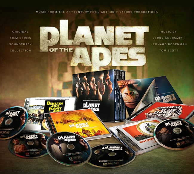 Planet Of The Apes Original Film Series 5-CD Soundtrack Box Set