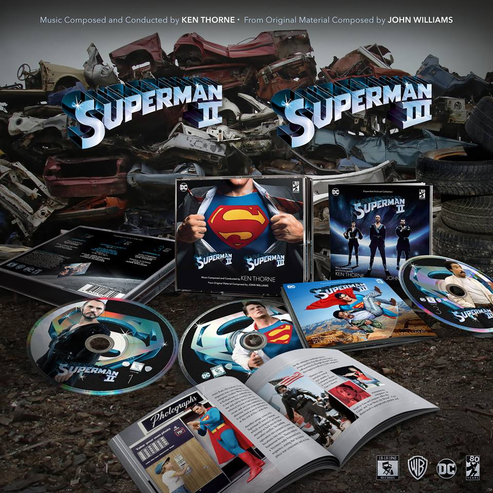 Superman II and III Soundtrack CD Limited Edition 3 Disc Set