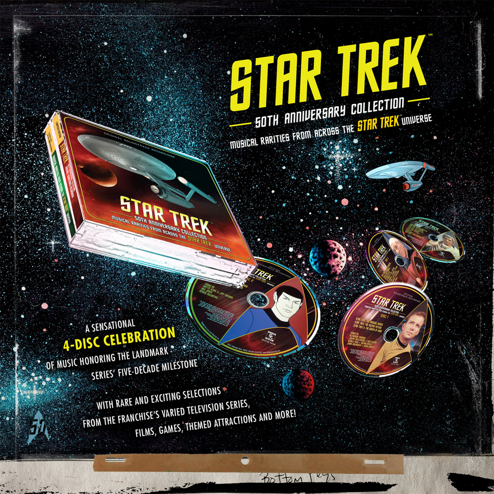 Star Trek 50th Anniversary Soundtrack Collection 4 CD Set Animated Series