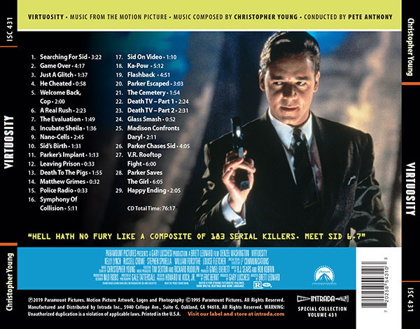 Virtuosity Soundtrack CD Christopher Young